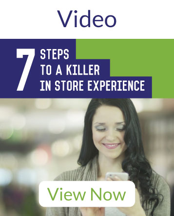 View the video on 7 steps to a killer in store experience in retail using the right technology